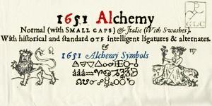 1651 Alchemy Font
