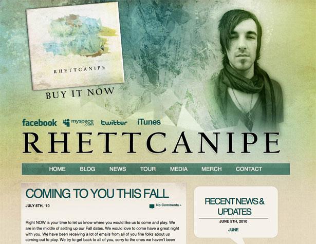 Textured website designs