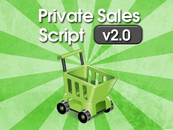 Plumrocket.com Presents Private Sales Script v2.0