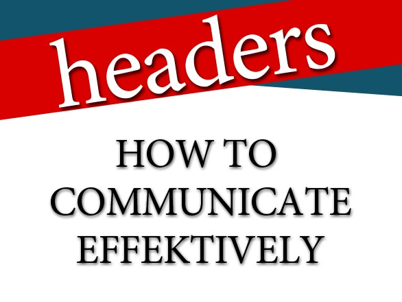 Web Design Tips: How to Communicate Effectively via Headers