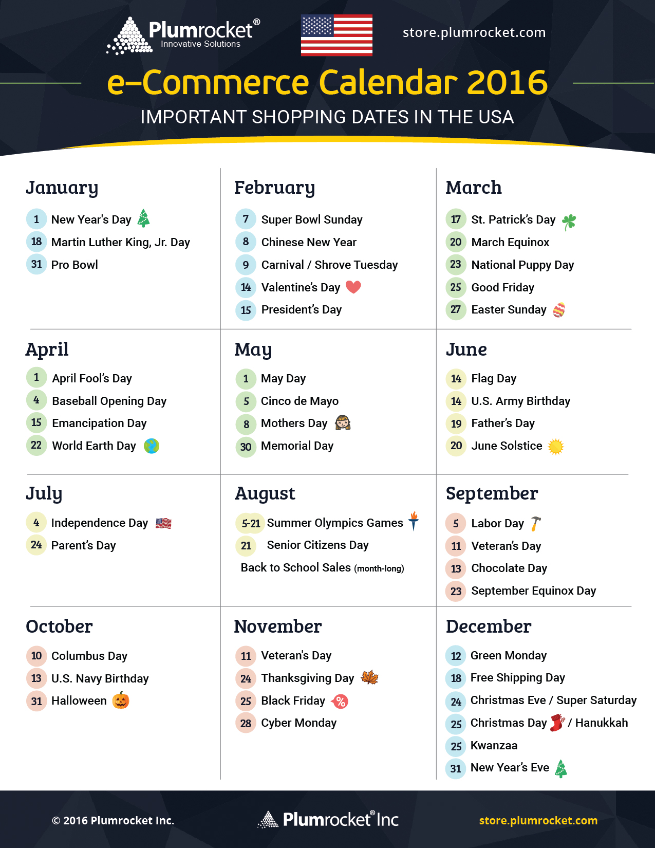 free 2016 marketing calendars for usa and canada plumrocket inc blog