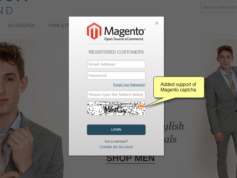 Added support of Magento captcha