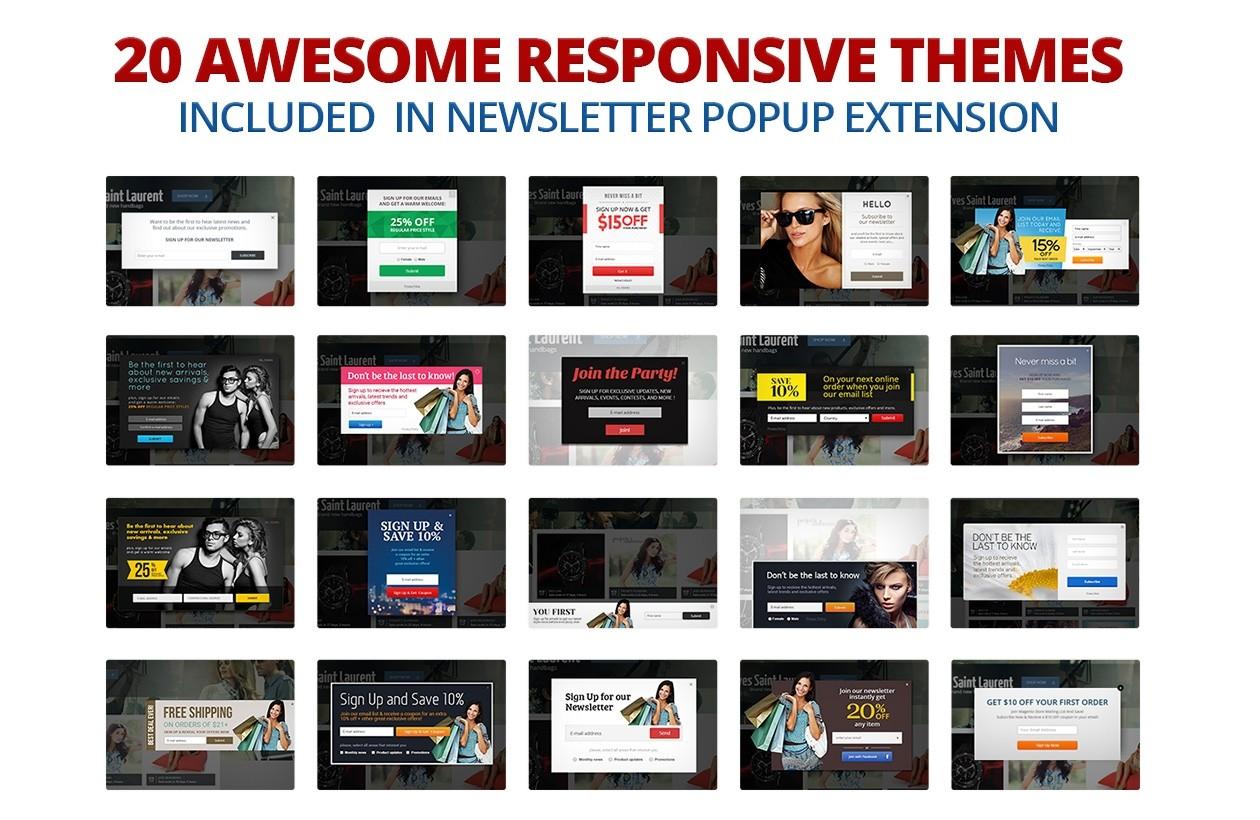 newsletter popup extension