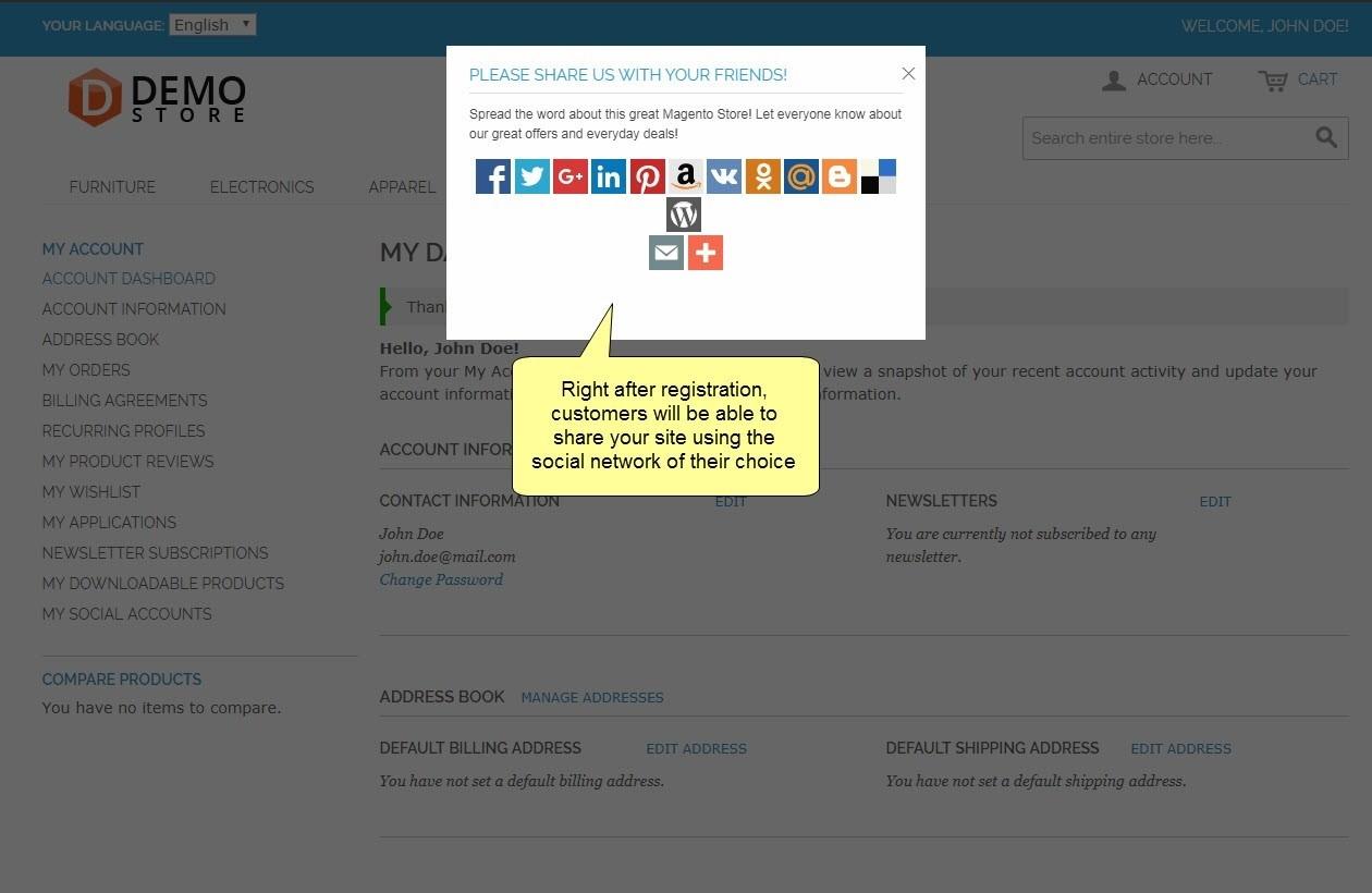 social login for magento