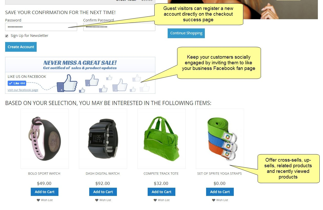 checkout sucess page extension