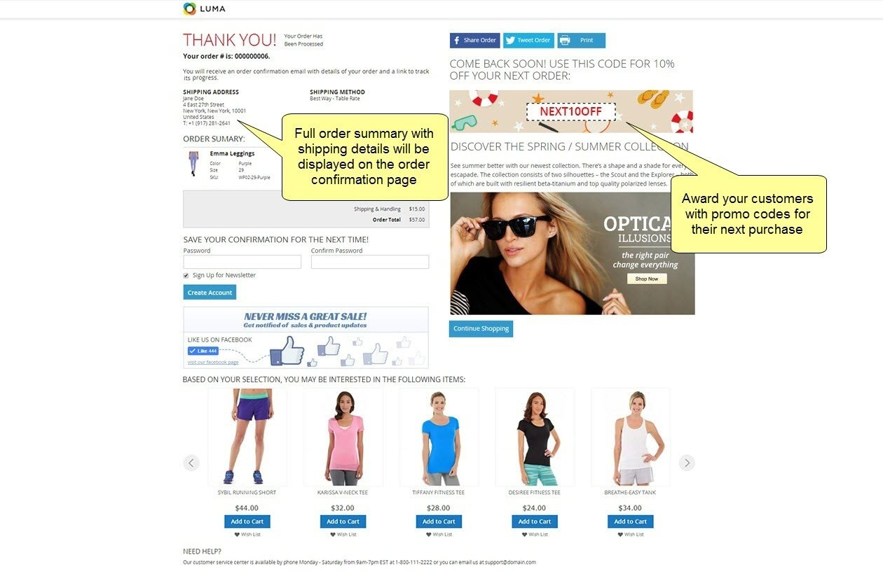 magento checkout success page