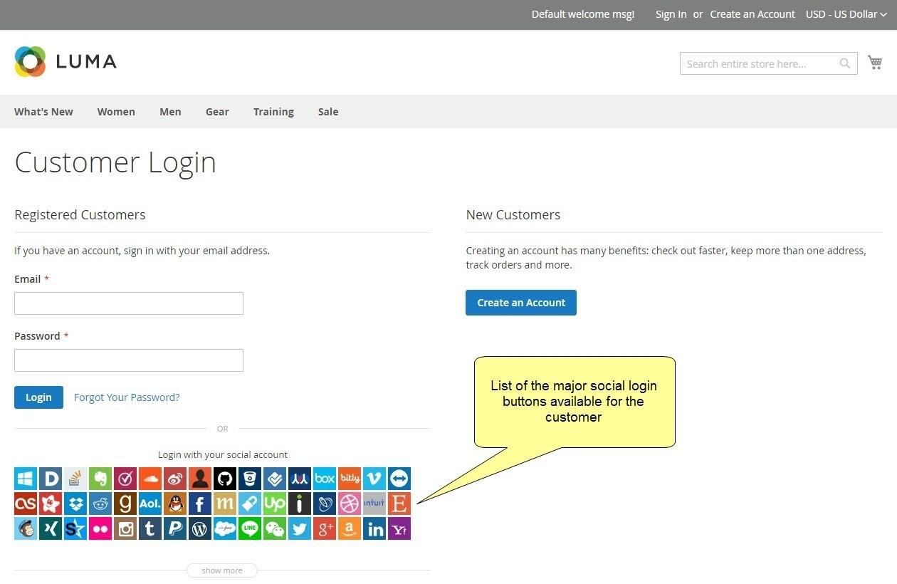 social login extension