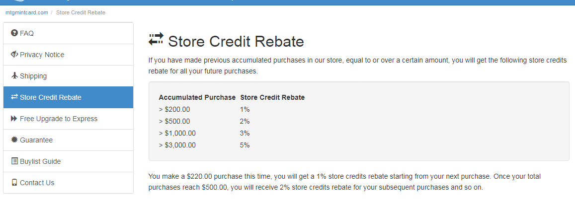 matgmincart store credit