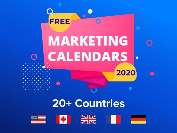 Free Marketing Calendars for 2020