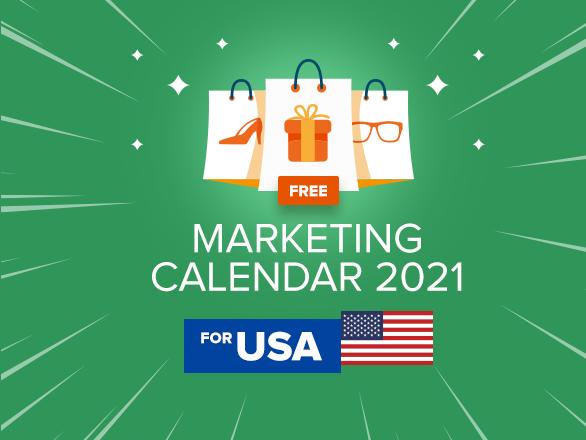 Free Marketing Calendar 2021 for USA