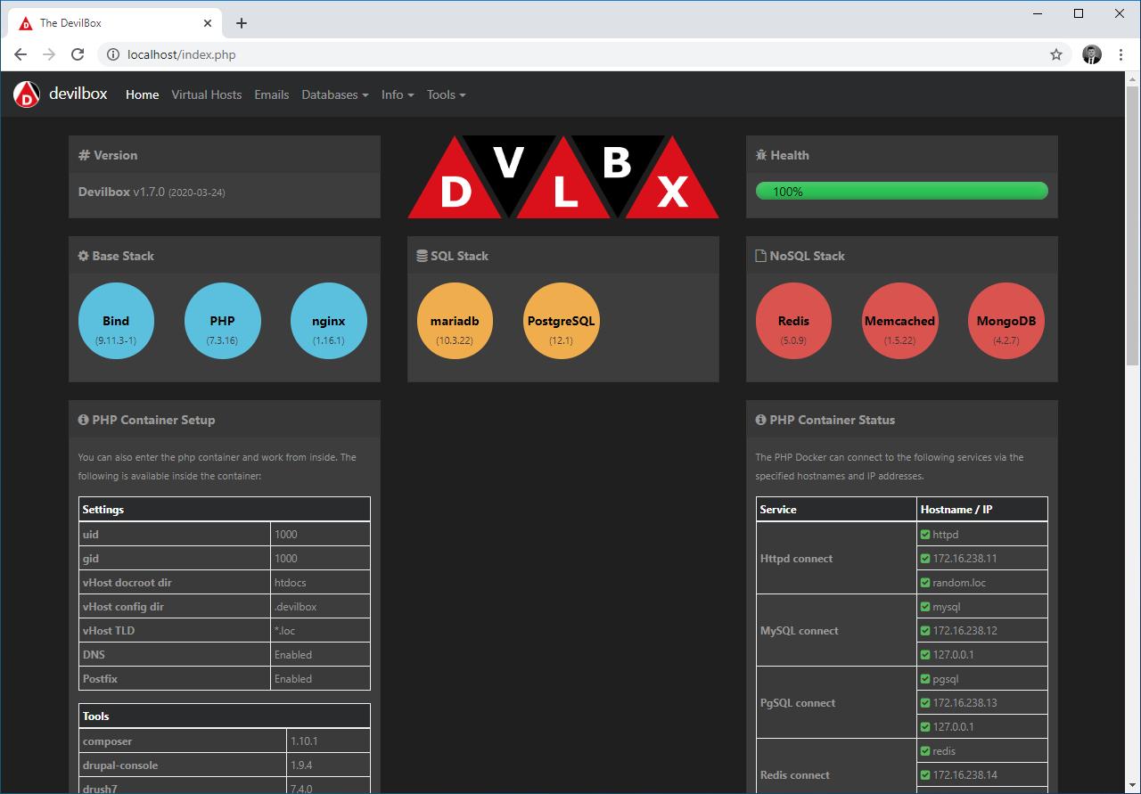 devilbox-intranet