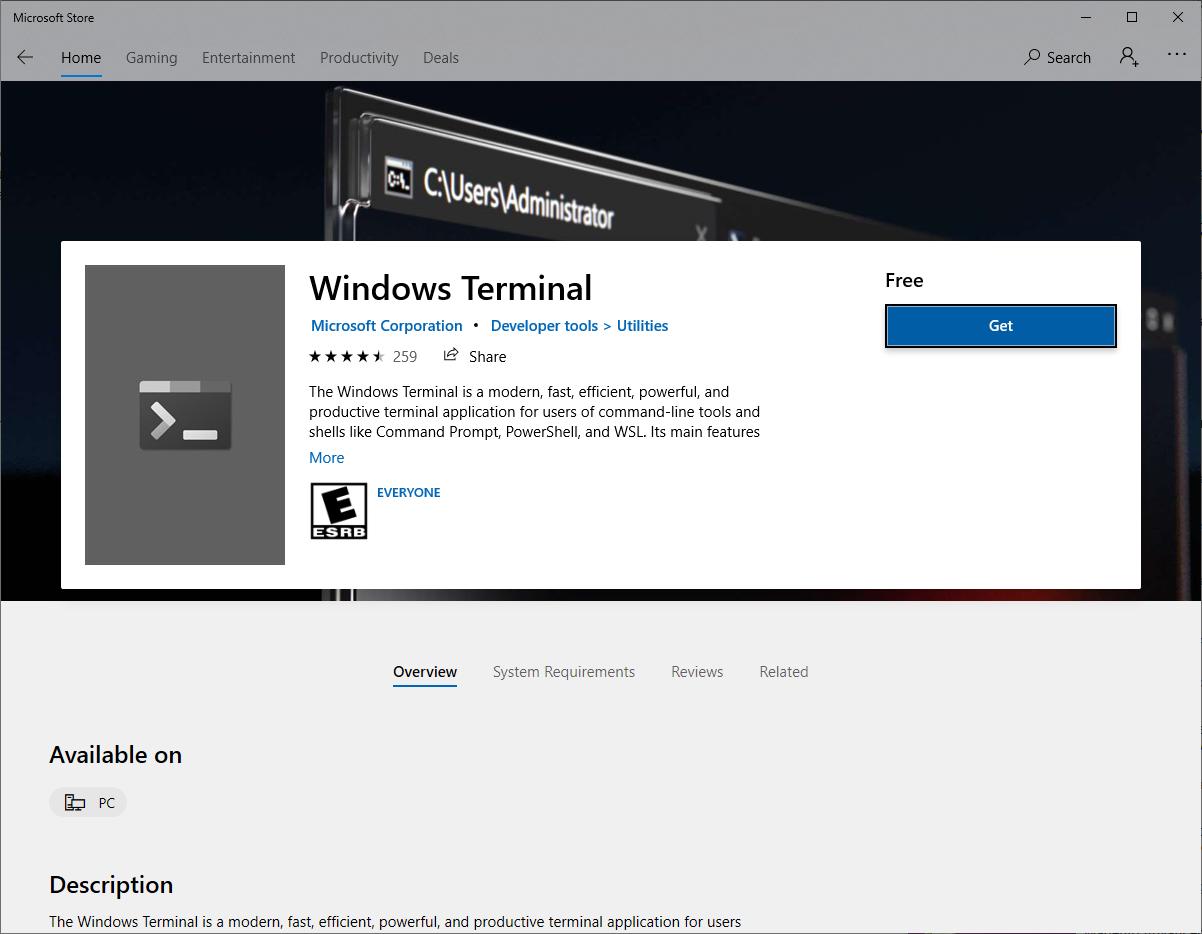 terminal-install