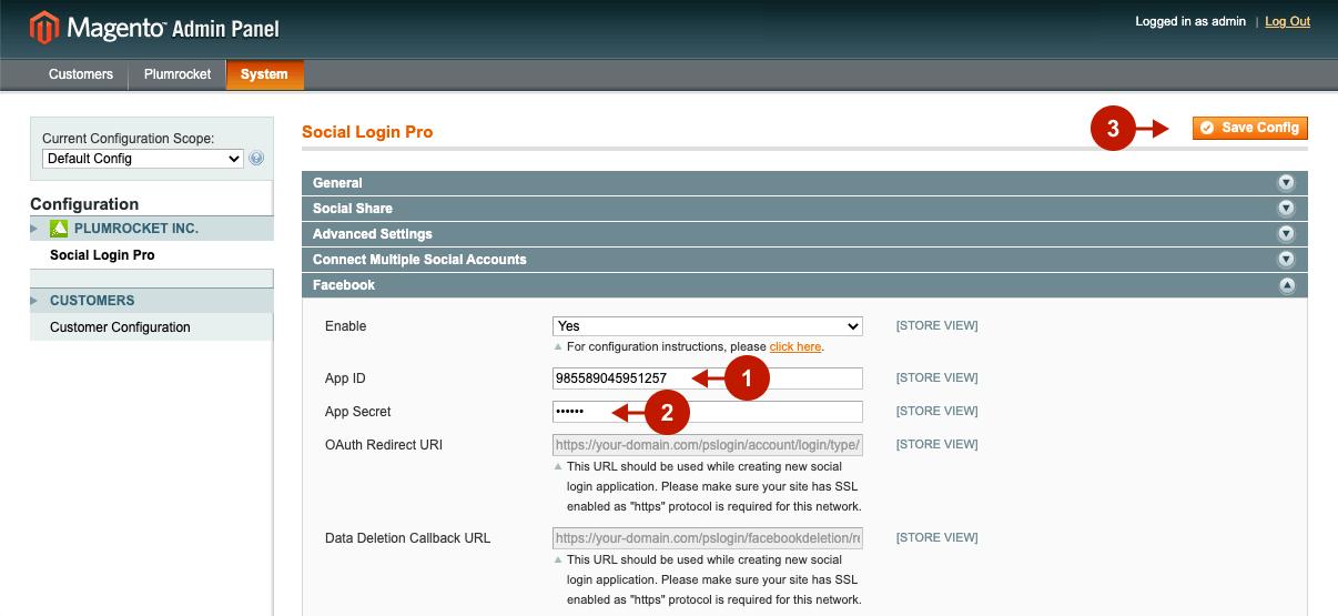Configuring Facebook Login Applocation in Magento Social Login Pro extension