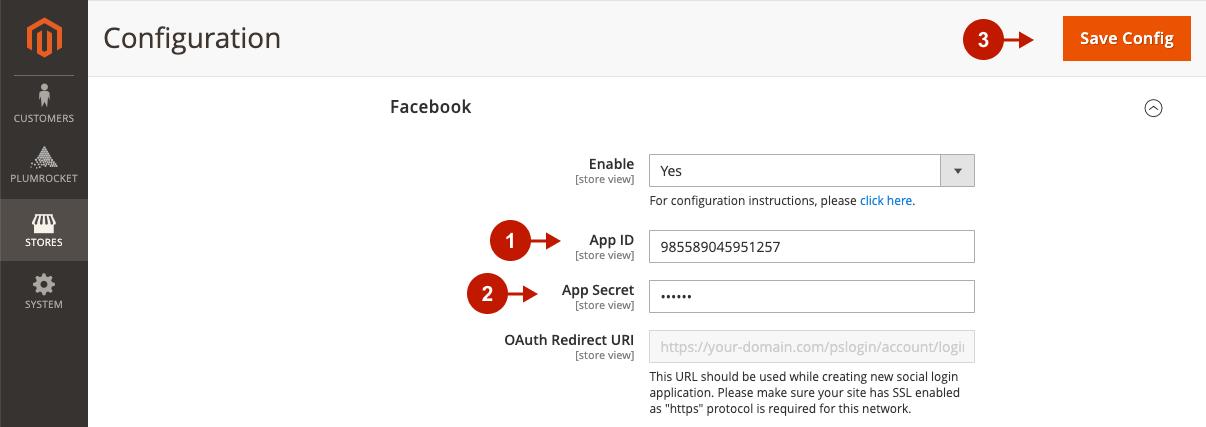 Configuring Facebook Login Applocation in Magento 2 Social Login Pro extension