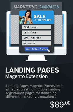 Landing Pages Magento Extension