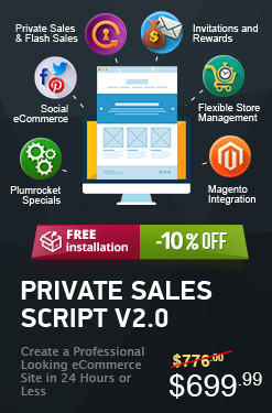 Magento Private Sales Script