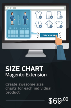 Size Chart Magento Extension