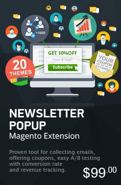 Magento Newsletter Popup Extension