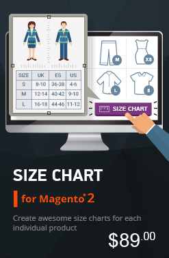 Size Chart Extension for Magento 2