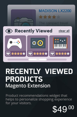 Recently Viewed Products Extension for Magento