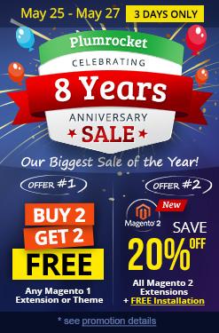 Plumrocket 8th Anniversary Magento Store