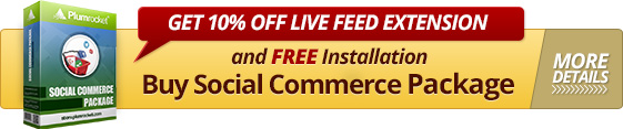 10% Discount Magento Live Feed Extension
