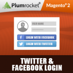 Twitter & Facebook Login Extension for Magento 2