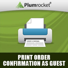 Magento Print Order Confirmation as Guest Extension