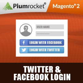 Magento 2 Twitter & Facebook Login Extension
