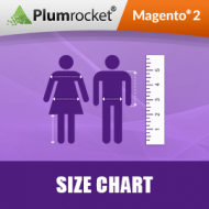 Magento 2 Size Chart Extension and Magento 2 Size Chart Popup