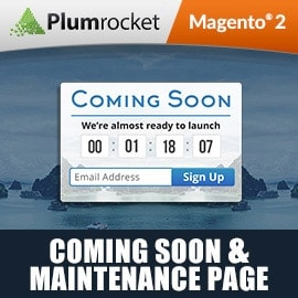 Magento 2 Coming Soon & Maintenance Page Extension
