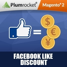 Facebook Like Discount Extension for Magento 2