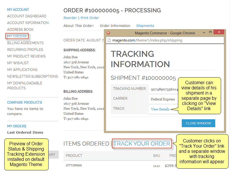 "USPS Tracking ® Click Change Delivery Instructions on the tracking results page to leave your request. If you do not see the Change Delivery Instructions link, your package is not eligible for the Delivery Instructions service. No ""Delivery Instructions"" Link."