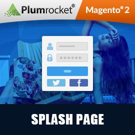 Magento 2 Splash Page Extension