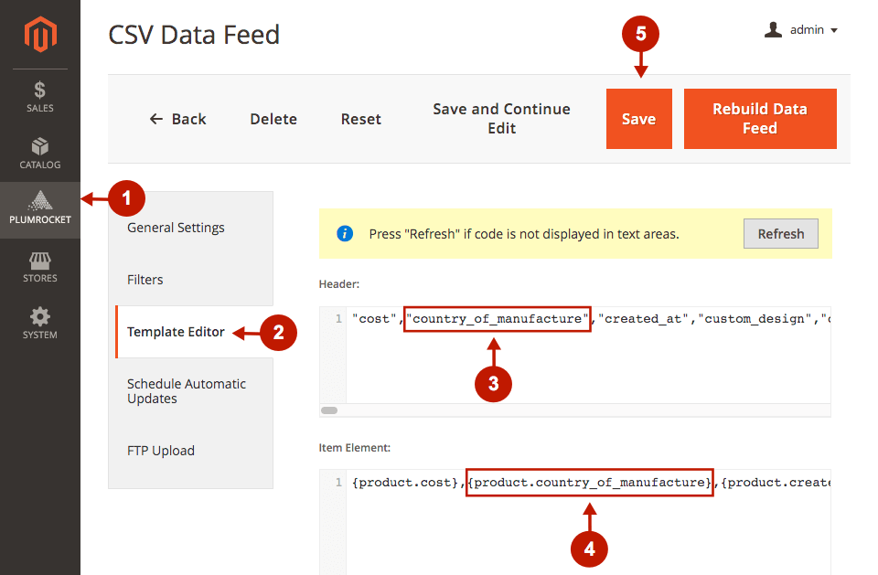 magento 2 data feed generator extension how to add extra column to data feed csv file