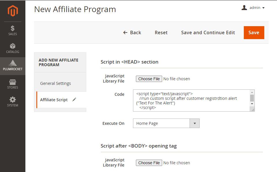 Magento 2 Affiliate Program extension adding custom affiliate program