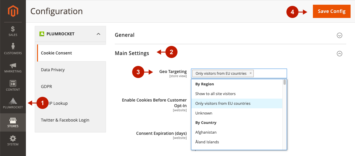 How to enable Cookie Consent Notice for EU visitors only