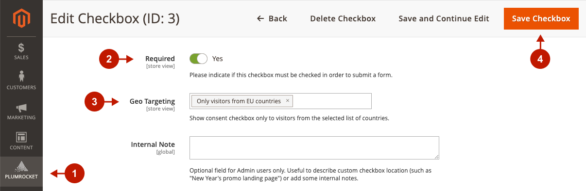 How to enable Consent Checkboxes for EU visitors only