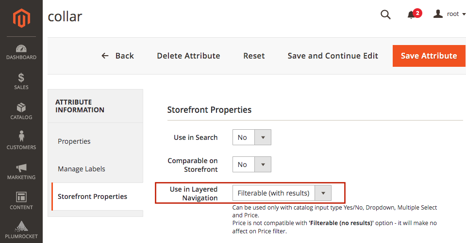 Magento 2 layered navigation and product filter extesnion. Product filtering by custom attributes