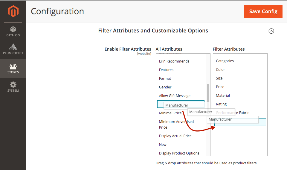Magento 2 layered navigation and product filter extesnion. Filtering products by custom attributes