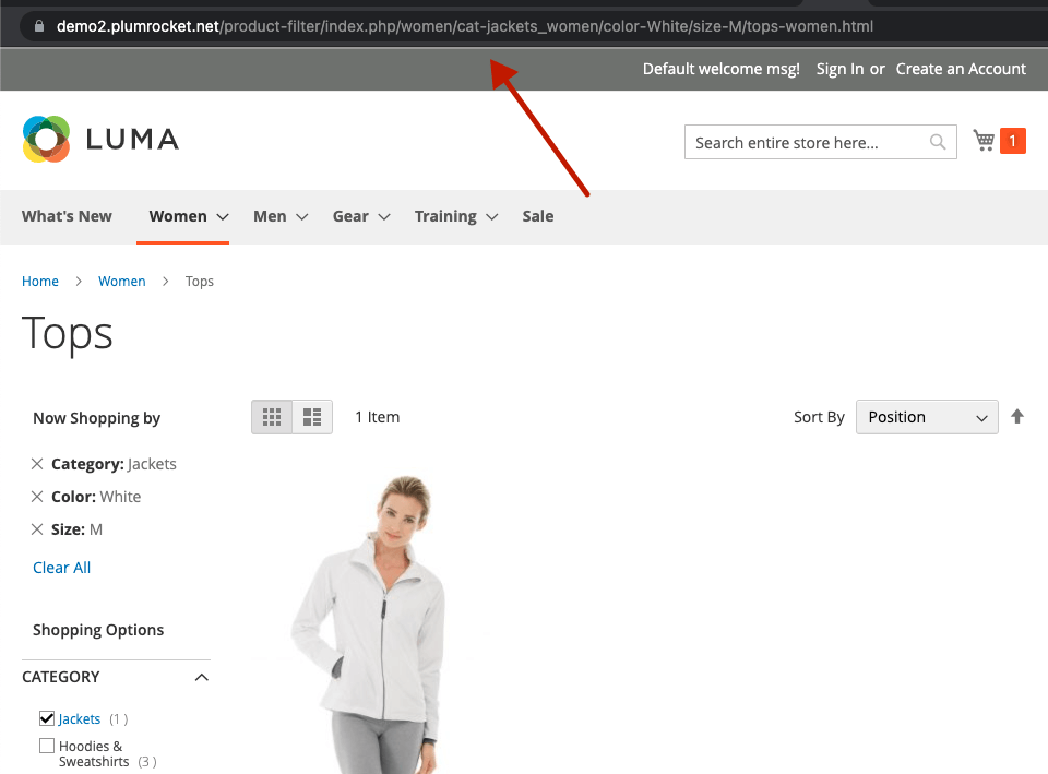 Magento 2 layered navigation and product filter extesnion. Enabled SEO-friendly URLs.