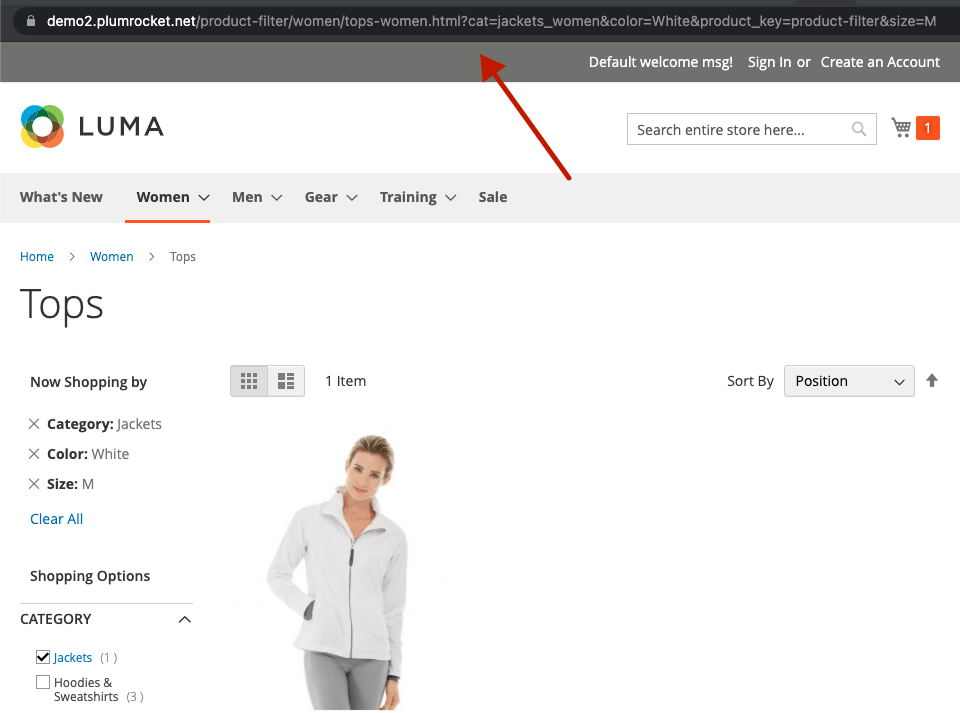 Magento 2 layered navigation and product filter extesnion. Disabled SEO-friendly URLs.