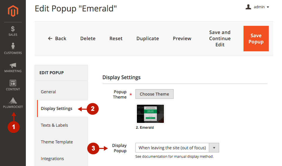 magento 2 newsletter popup extension configuration exit intent popup
