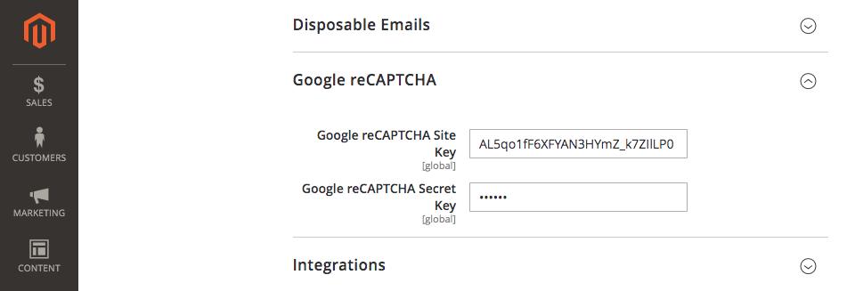 magento 2 newsletter popup extension google recaptcha configuration 4