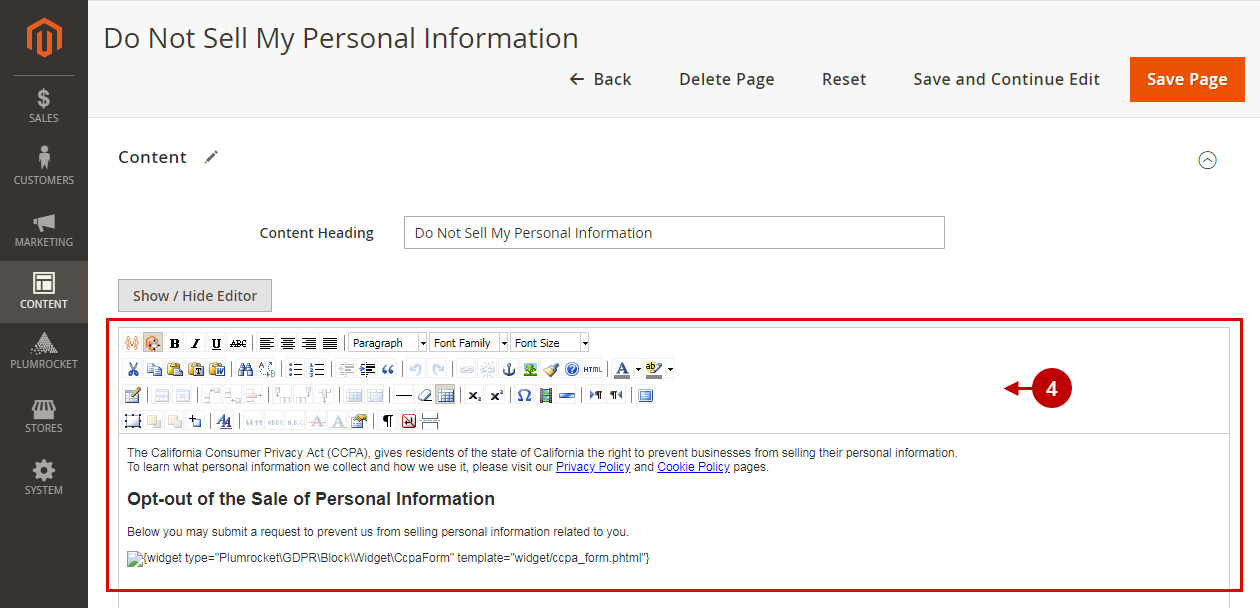Magento Do Not Sell My Personal Information - store.plumrocket.com