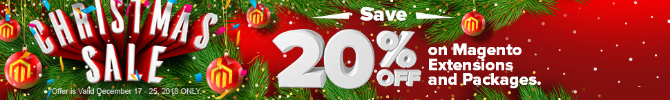 Christmas Sale - Save 20% OFF on Magento Extension and Packages.