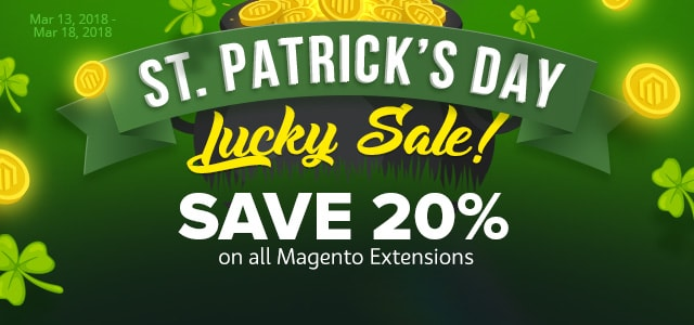 St.Patrick's day! Save 20% OFF