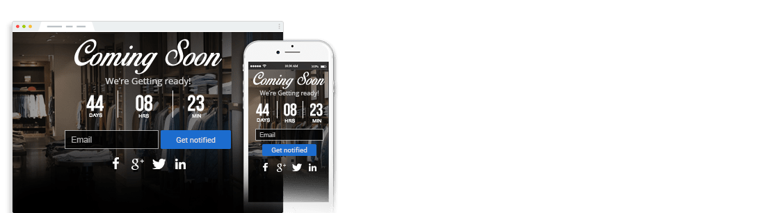 Coming Soon & Maintenance Page Extension for Magento