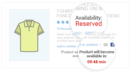 Display Timer and Reservation Notification on Product Pages