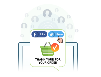 Let Buyers Like and Share Shopping Experience on Facebook Or Twitter